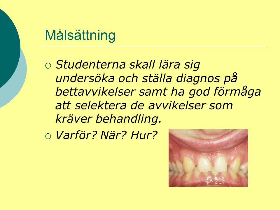 Interceptiv ortodonti  Studentens tränas i klinikmiljö för att kunna utföra enklare behandlingar med fokus på interceptiv behandling  Vad är interceptiv ortodonti???.