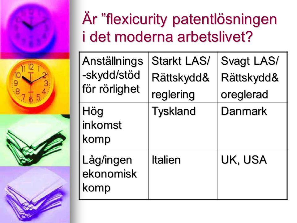 Är flexicurity patentlösningen i det moderna arbetslivet.