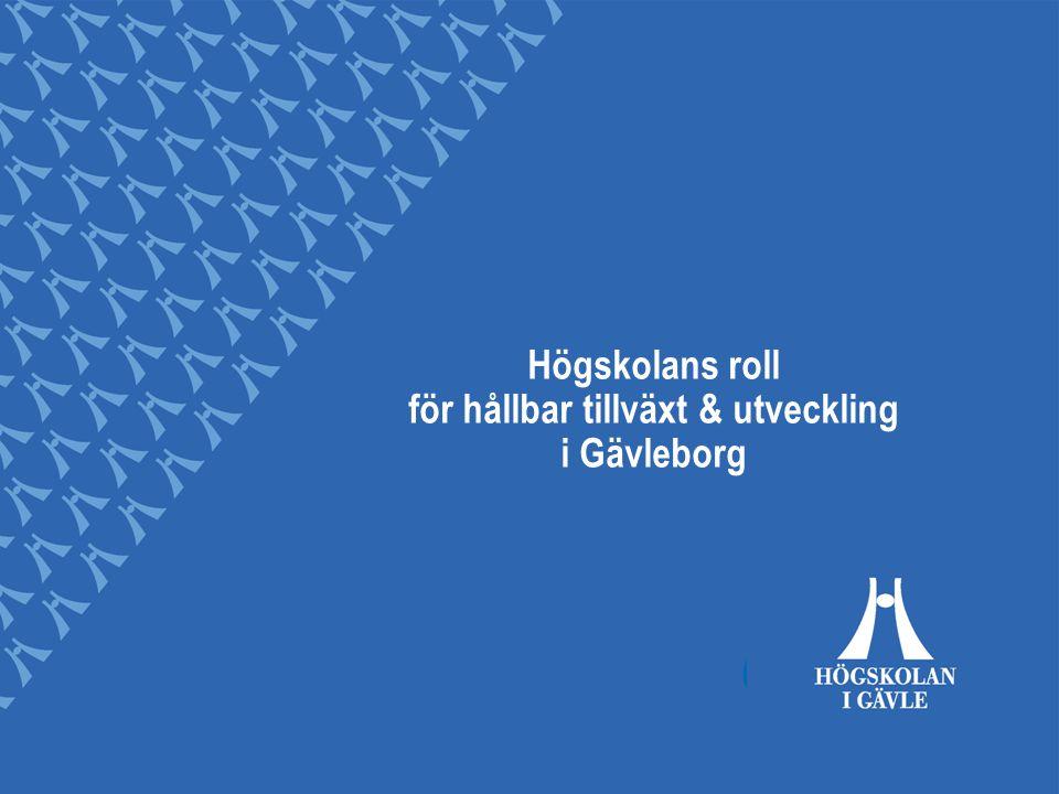 Högskolans roll för hållbar tillväxt & utveckling i Gävleborg
