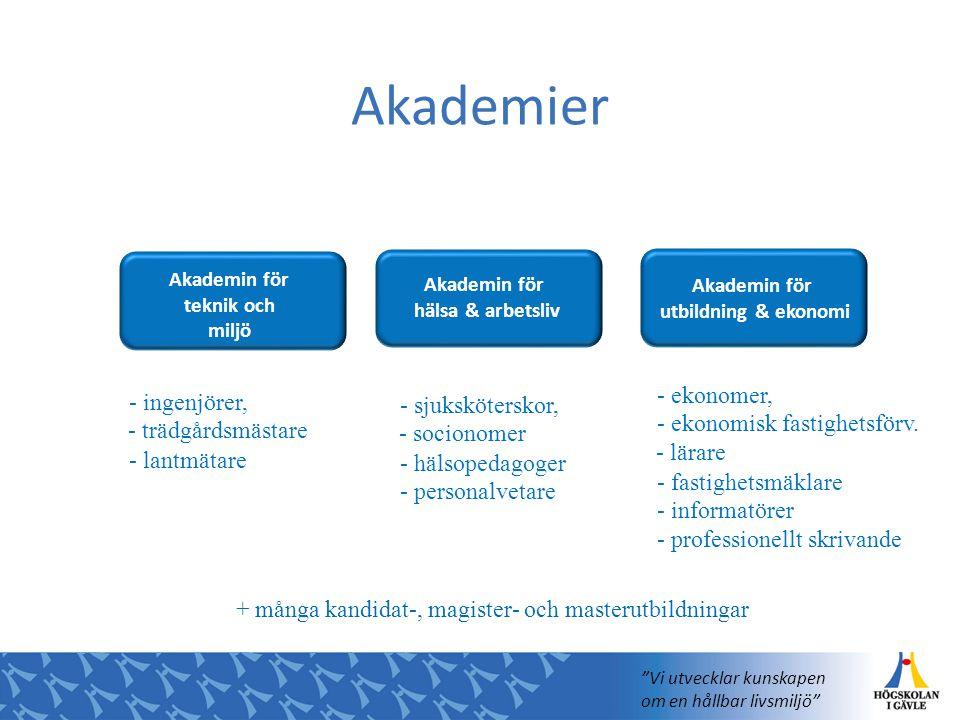 Akademier Akademi för utbildning och ekonomi Akademi för hälsa och arbetsliv Avdelning för ekonomi Avdelning för humaniora Avdelning för kultur-, reli