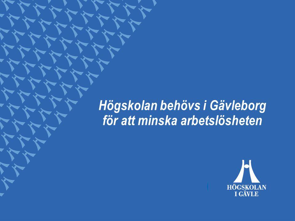 Högskolan behövs i Gävleborg för att minska arbetslösheten