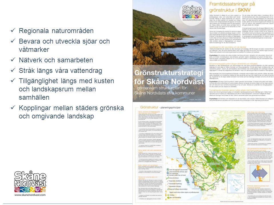  Regionala naturområden  Bevara och utveckla sjöar och våtmarker  Nätverk och samarbeten  Stråk längs våra vattendrag  Tillgänglighet längs med k