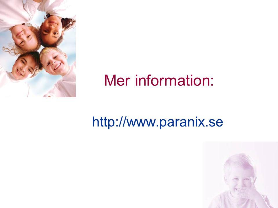 23 Mer information: http://www.paranix.se