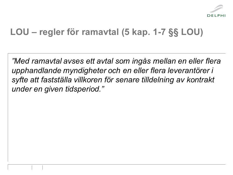 LOU – regler för ramavtal (5 kap.