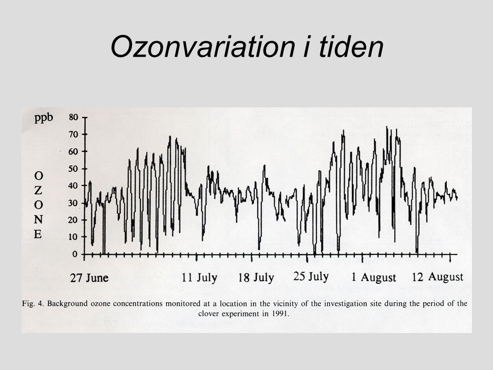 Ozonvariation i tiden