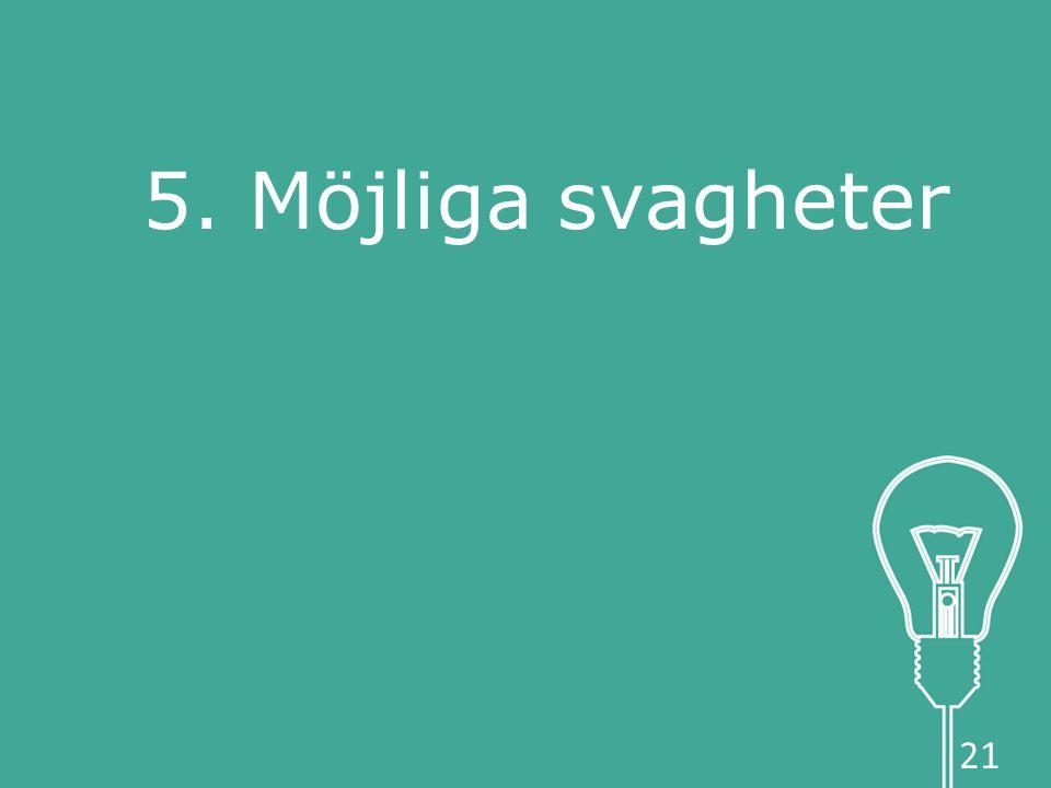 5. Möjliga svagheter 21