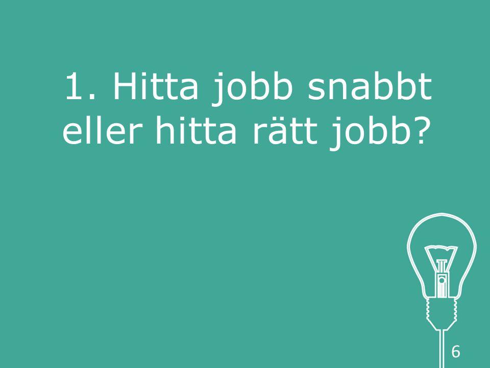 1. Hitta jobb snabbt eller hitta rätt jobb 6