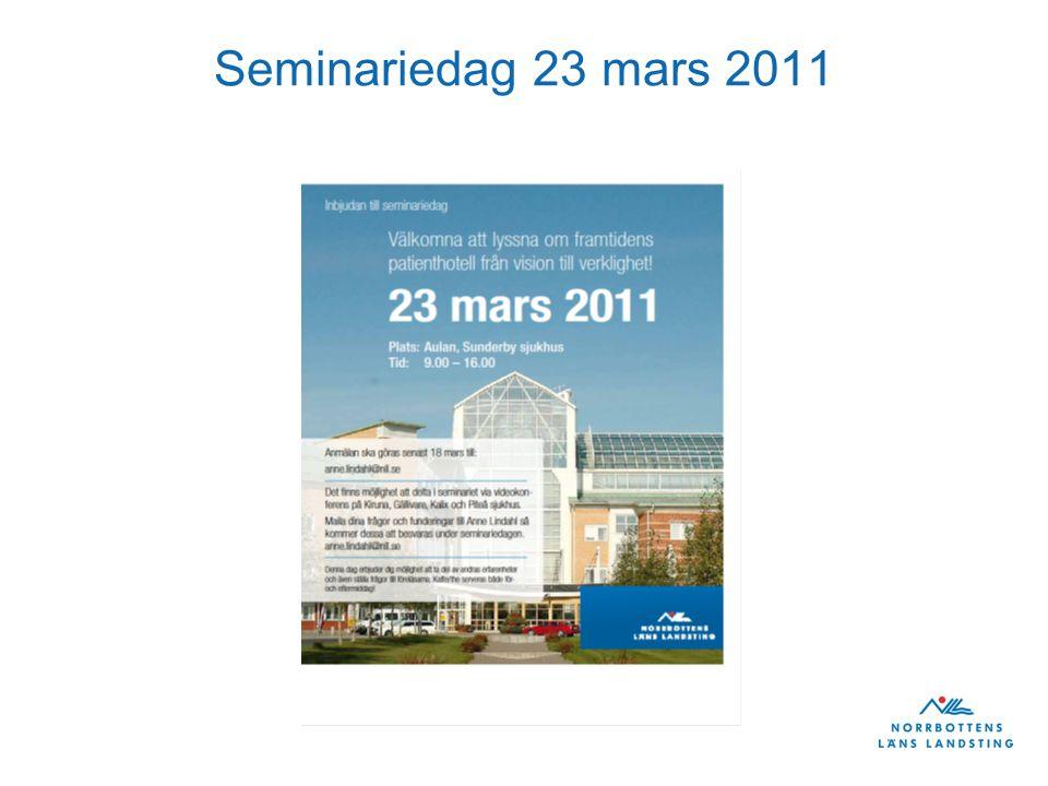 Seminariedag 23 mars 2011