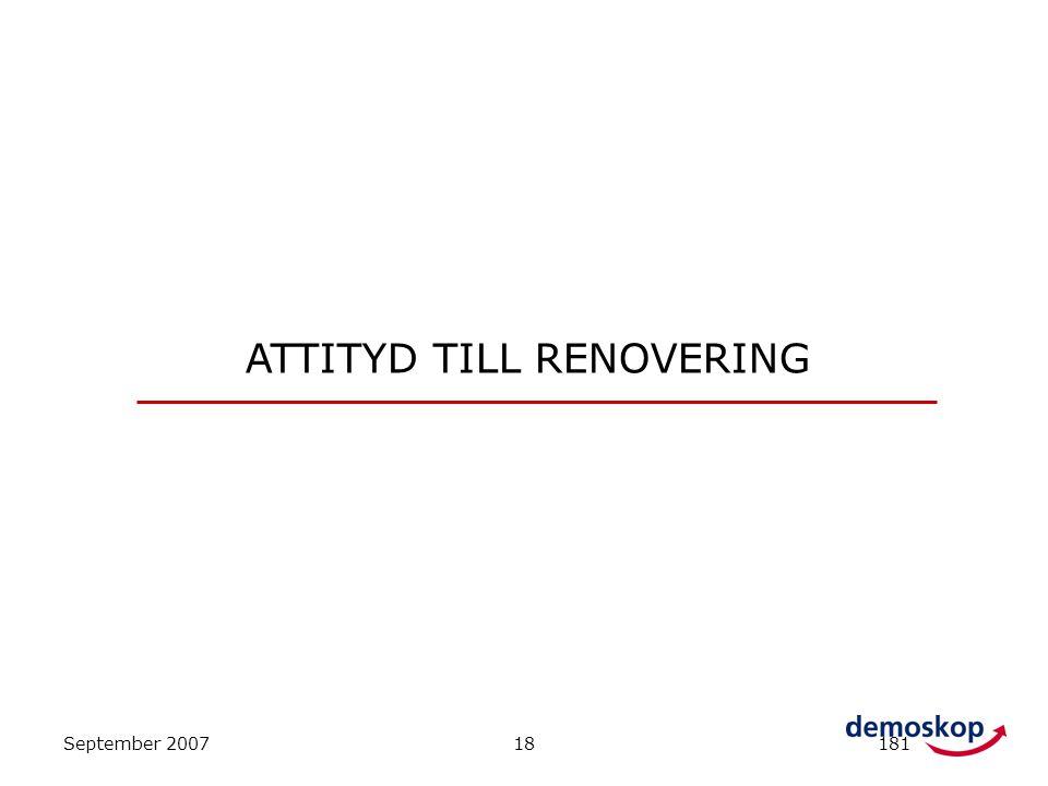 September 200718181 ATTITYD TILL RENOVERING