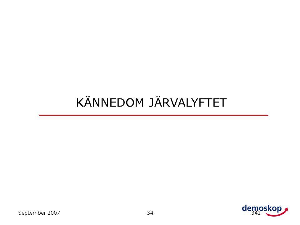 September 200734341 KÄNNEDOM JÄRVALYFTET