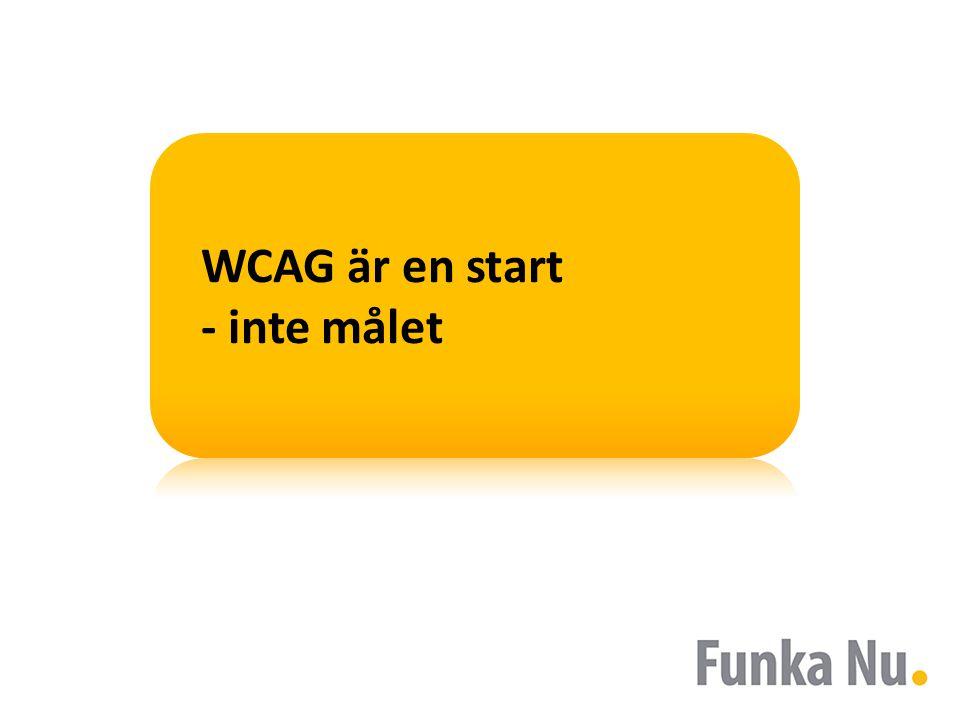 WCAG är en start - inte målet