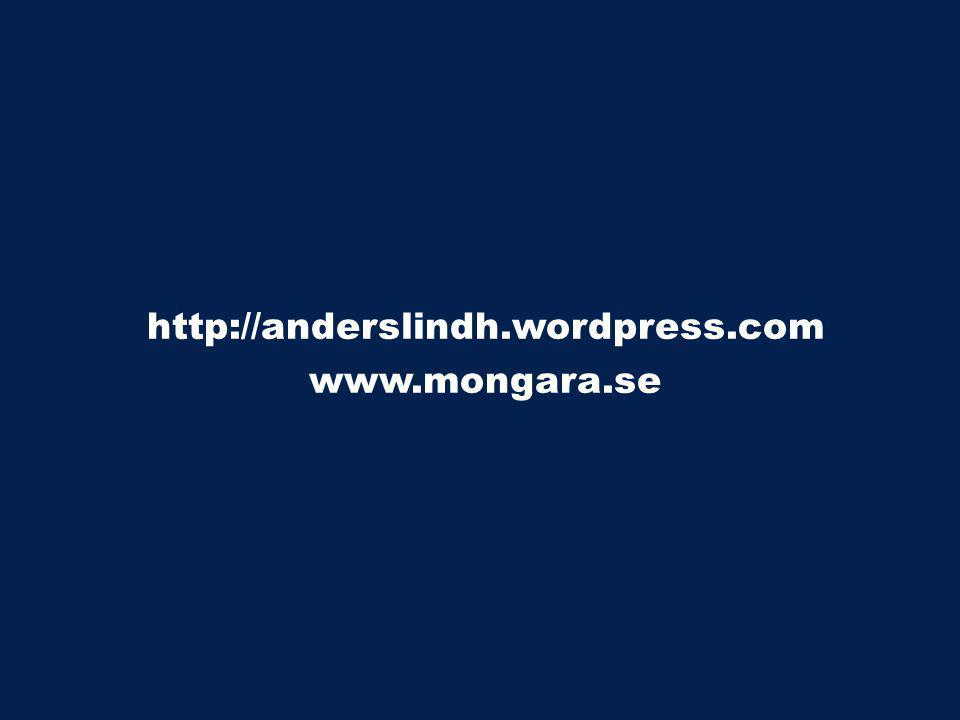 http://anderslindh.wordpress.com www.mongara.se