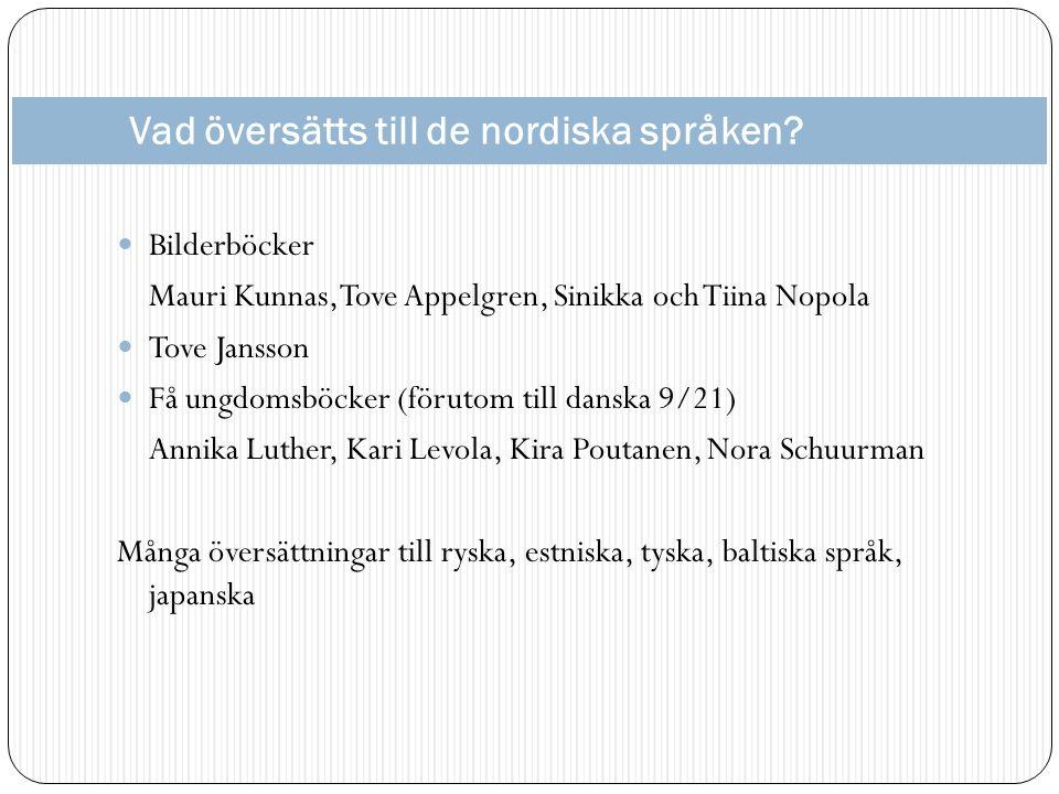 Vad översätts till de nordiska språken.