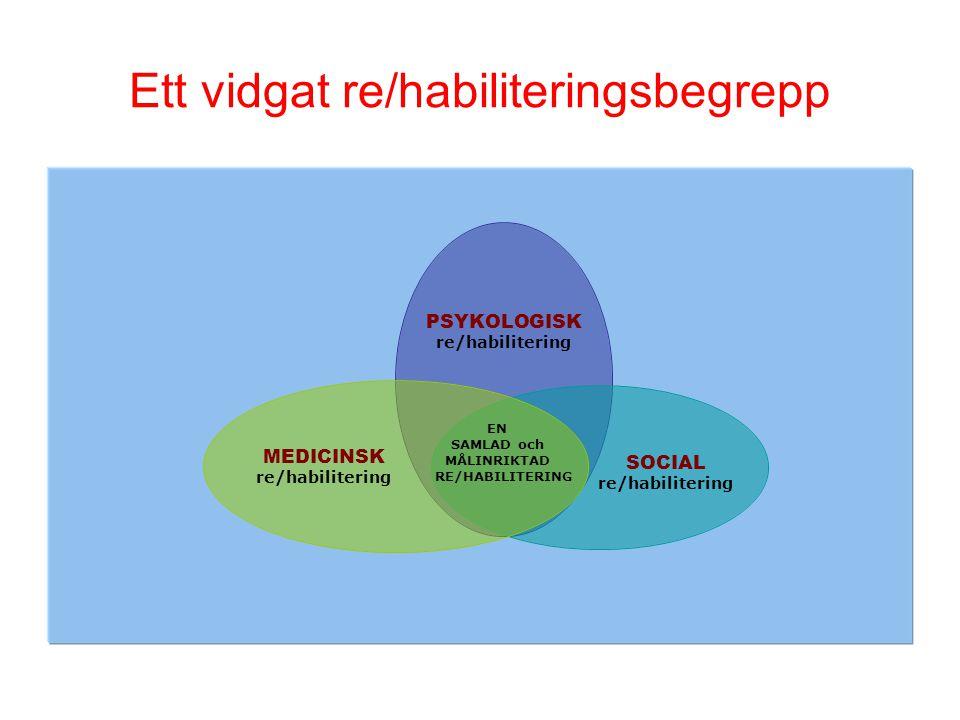 Ett vidgat re/habiliteringsbegrepp EN SAMLAD och MÅLINRIKTAD RE/HABILITERING