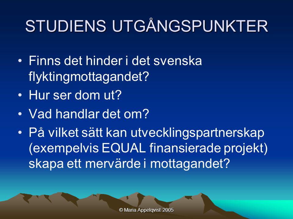 © Maria Appelqvist 2005 NÄR BÖRJAR MOTTAGANDET.