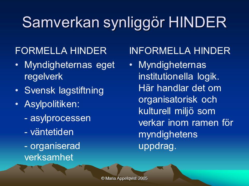 © Maria Appelqvist 2005 Hur kan man studera implicita hinder.