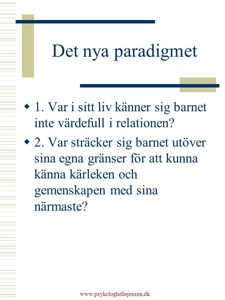www.psykologhellejensen.dk Det nya paradigmet  1.