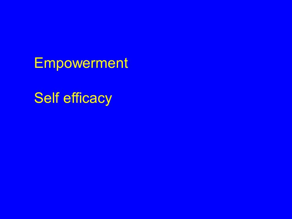 Empowerment Self efficacy