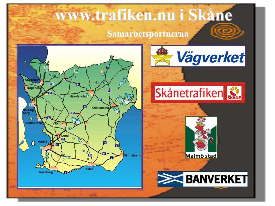 www.trafiken.nu i Skåne Samarbetspartnerna