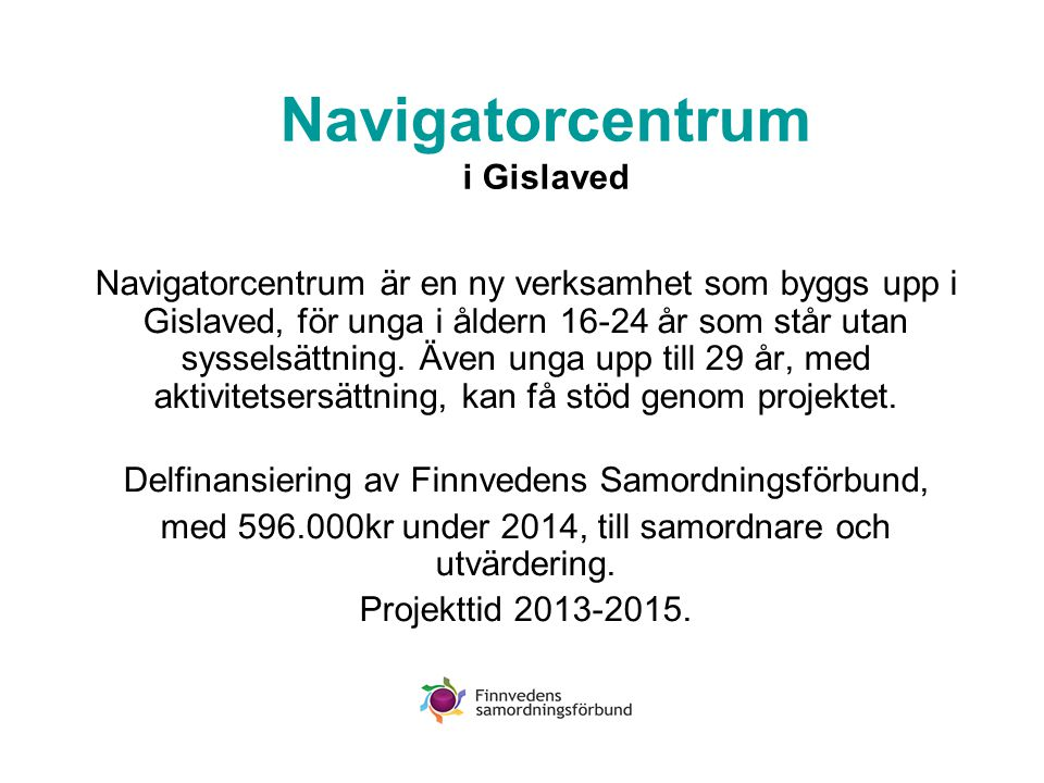 Överenskommelsen om fortsatt Arenasamverkan i GGVV •Samtalsfrågor: - Saknas någon viktig verksamhet i er grupp.
