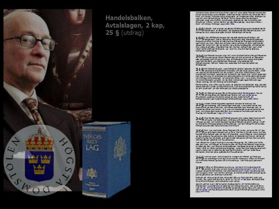 Handelsbalken, Avtalslagen, 2 kap, 25 § (utdrag)