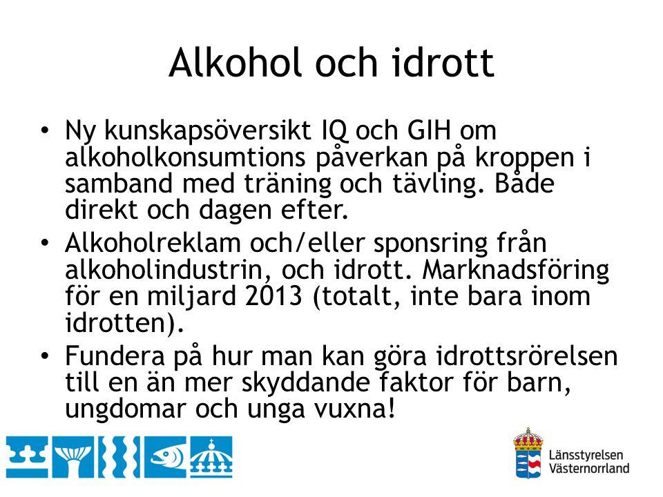 Alkohol och idrott • Ny kunskapsöversikt IQ och GIH om alkoholkonsumtions påverkan på kroppen i samband med träning och tävling. Både direkt och dagen