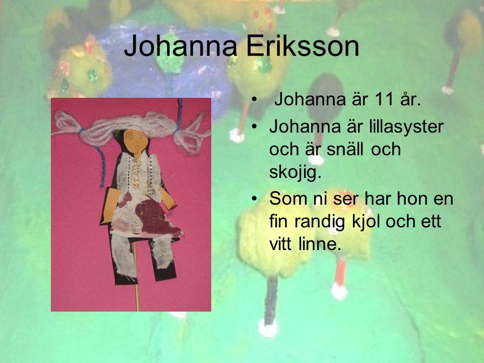 Johanna Eriksson • Johanna är 11 år. •Johanna är lillasyster och är snäll och skojig.