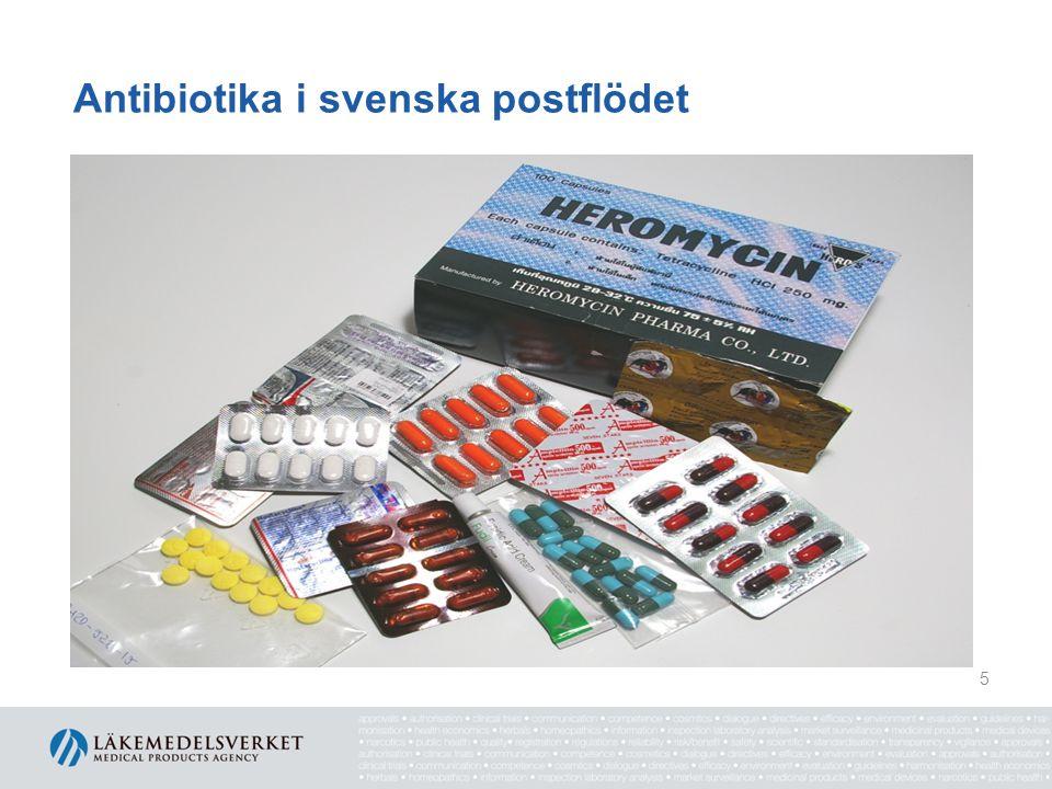Antibiotika i svenska postflödet 5