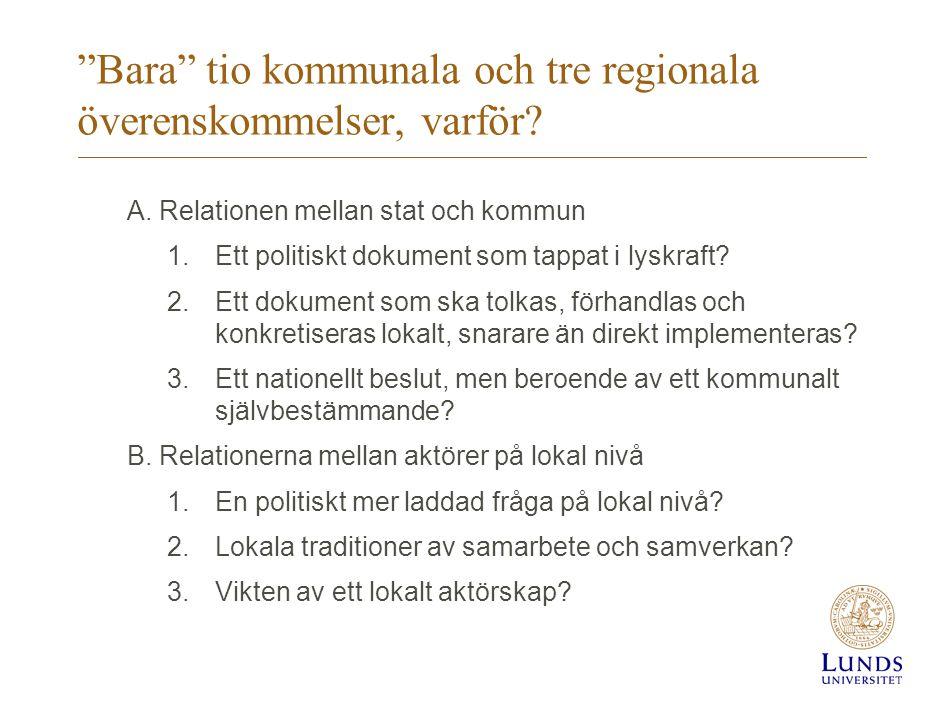 Syfte med denna studie Studiens syfte är att följa upp de sex principerna i Överenskommelsen i förhållande till hur den somaliska familjeåterföreningen går till i tre strategiskt valda kommuner i Sverige (Borlänge, Malmö och Sundsvall) –Alla tre kommuner har på senare år mottagit ett stort antal flyktingar från Somalia (i relation till befolkningen) och kommer därför sannolikt att beröras av familjeåterföreningen.