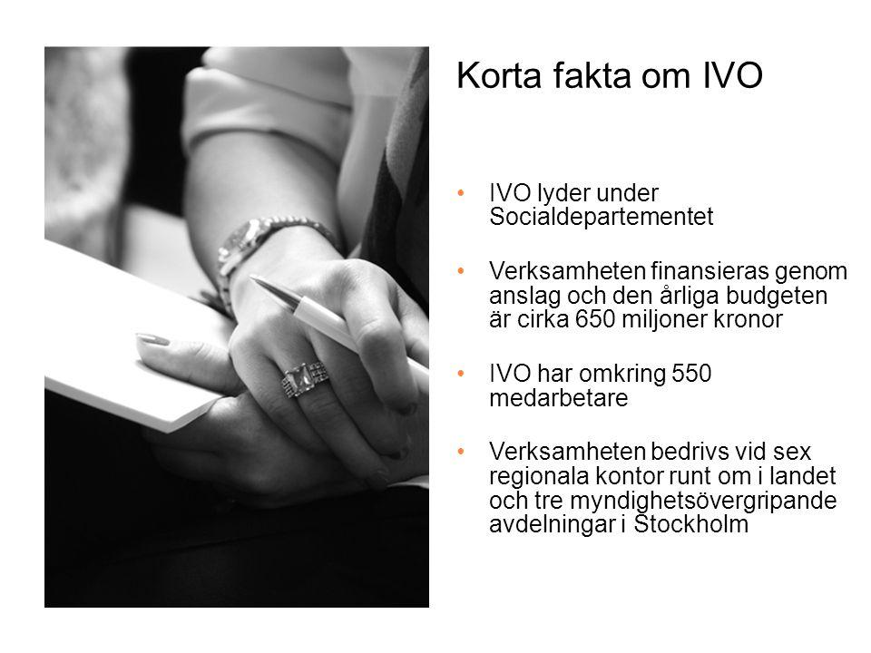 IVO:s uppdrag Tillsyn av hälso- och sjukvård och hälso- och sjukvårdspersonal samt socialtjänst och LSS-verksamhet.