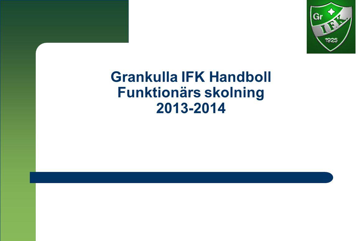 Grankulla IFK Handboll Funktionärs skolning 2013-2014