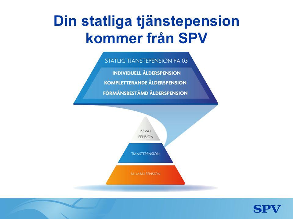 Din statliga tjänstepension kommer från SPV