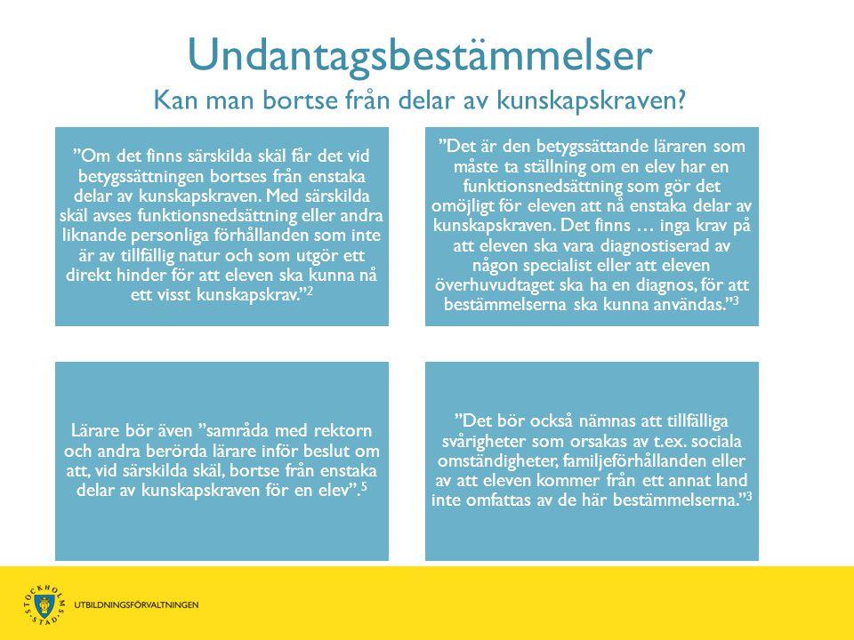 Skillnaden mellan kunskapskraven beskrivs med värdeord ECA