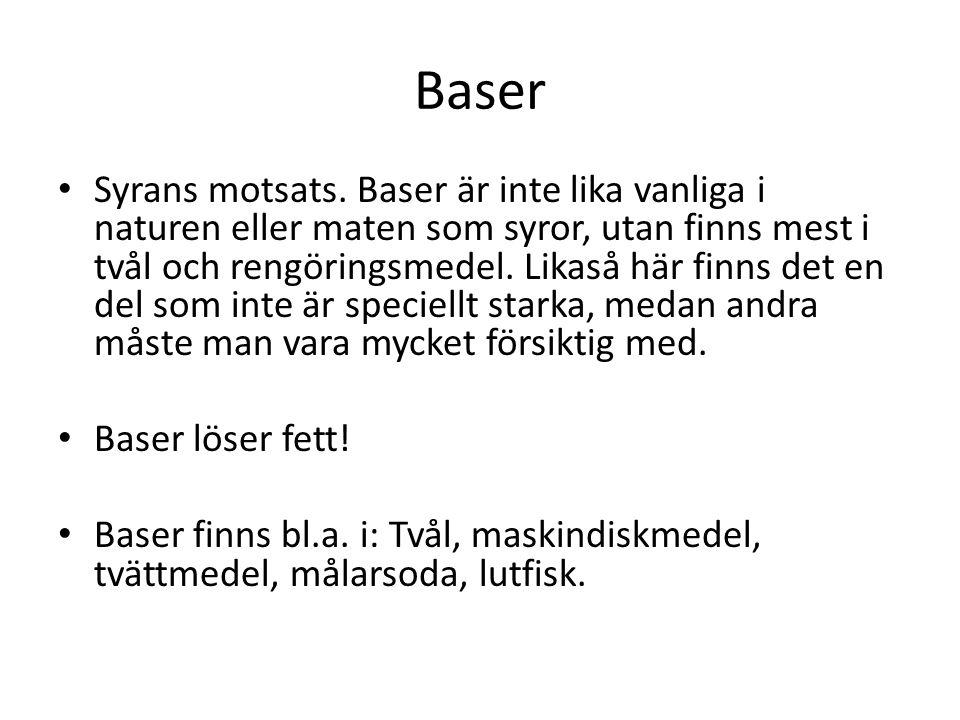 Baser • Syrans motsats.