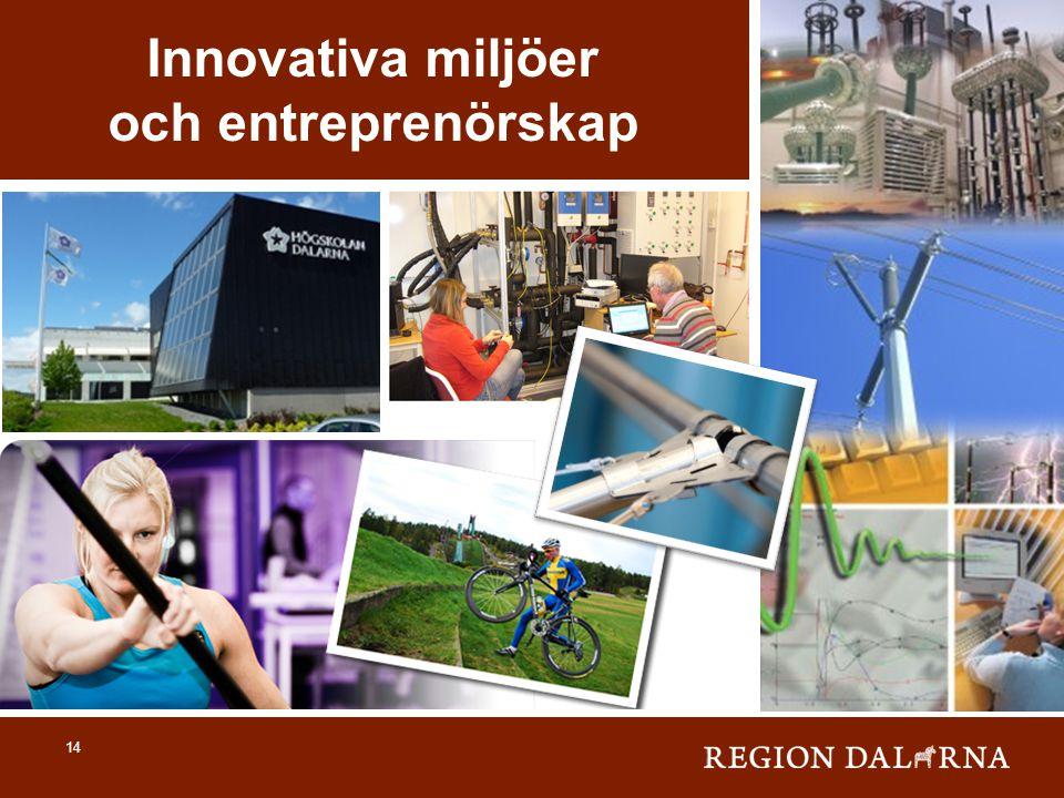 14 Innovativa miljöer och entreprenörskap