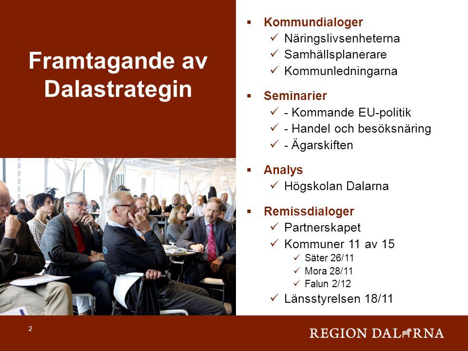  Kommundialoger  Näringslivsenheterna  Samhällsplanerare  Kommunledningarna  Seminarier  - Kommande EU-politik  - Handel och besöksnäring  - Ä