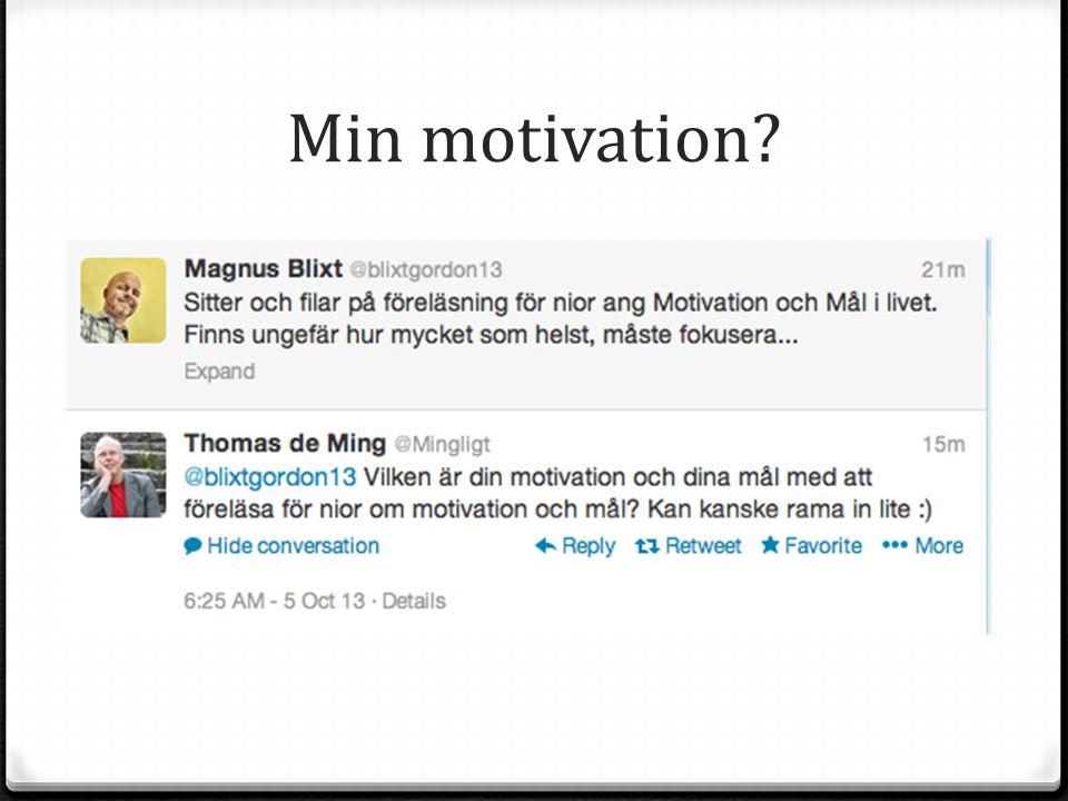 Din motivation? Om man vill bidra schysst: www.todaysmeet.com/Sofielundsnior