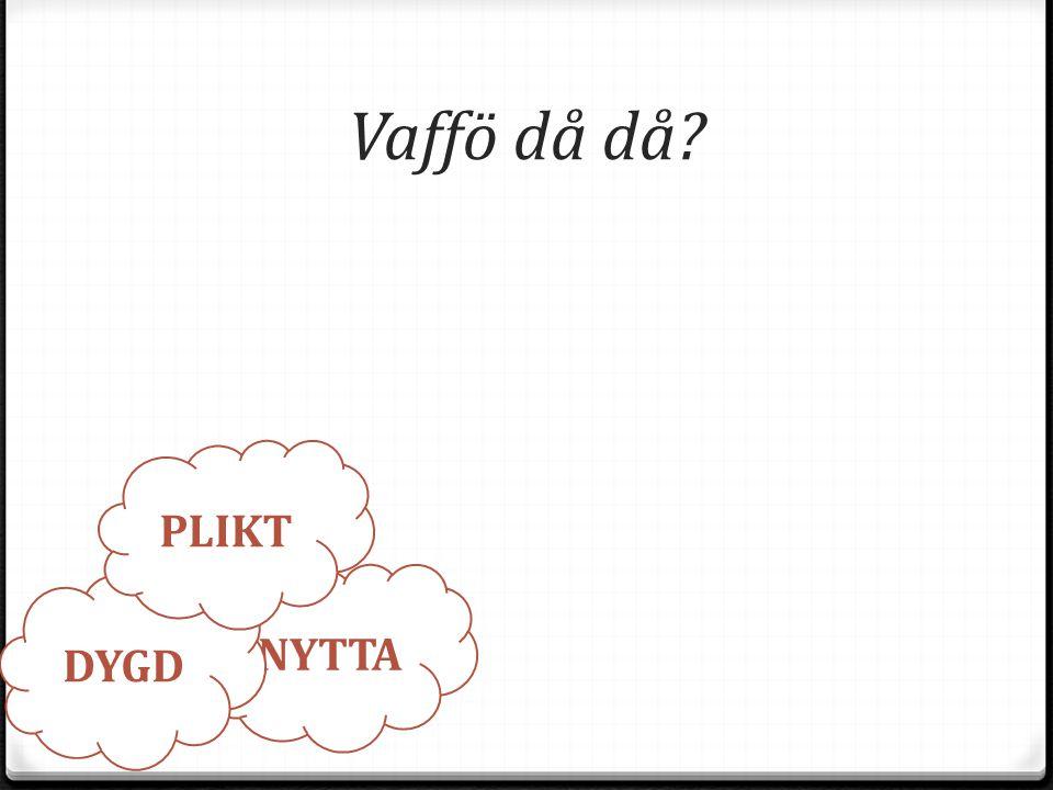 För mig väger vad tyngst? A: Plikt B: Nytta C: Dygd D: Vet ej student.infuselearning.com Rum: 30389