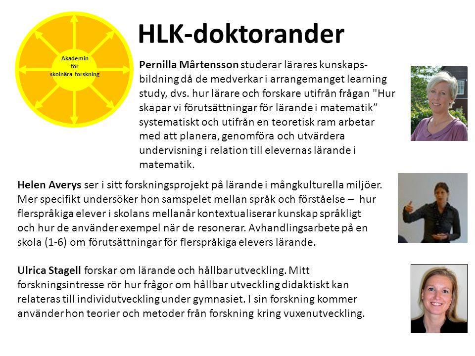 HLK-doktorander Akademin för skolnära forskning Pernilla Mårtensson studerar lärares kunskaps- bildning då de medverkar i arrangemanget learning study