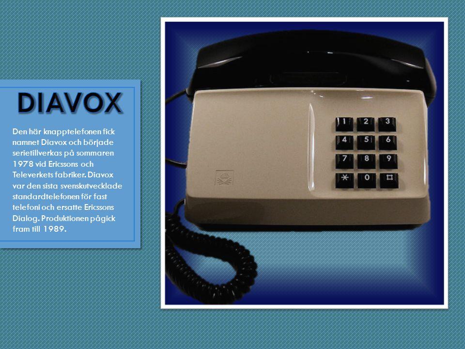 Den här knapptelefonen fick namnet Diavox och började serietillverkas på sommaren 1978 vid Ericssons och Televerkets fabriker.