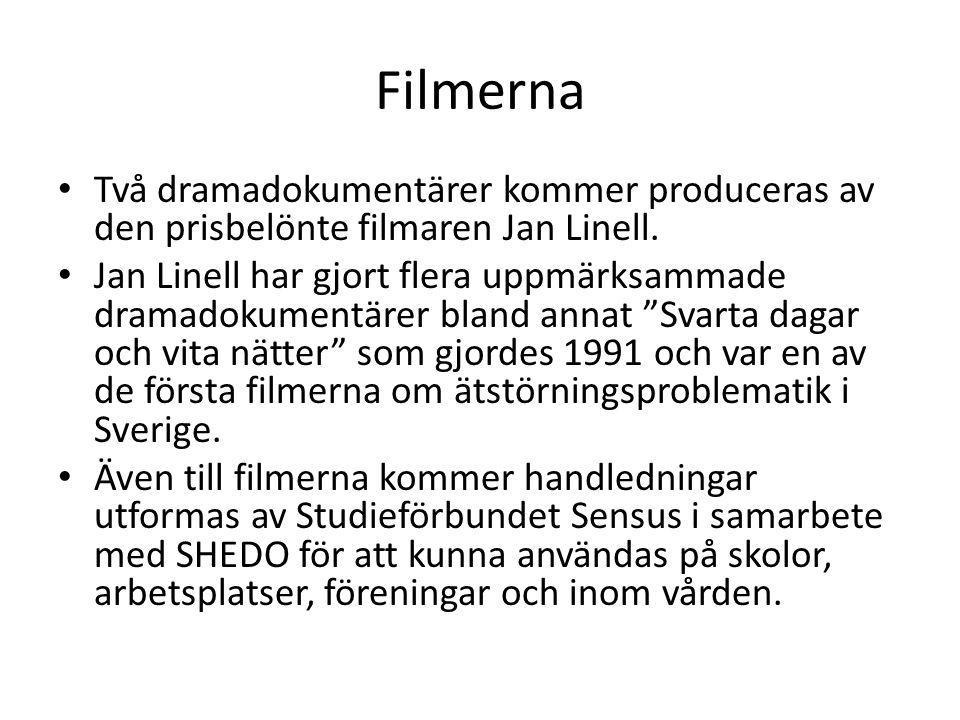 Filmerna • Två dramadokumentärer kommer produceras av den prisbelönte filmaren Jan Linell. • Jan Linell har gjort flera uppmärksammade dramadokumentär