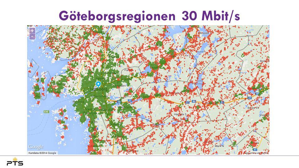 Göteborgsregionen 30 Mbit/s
