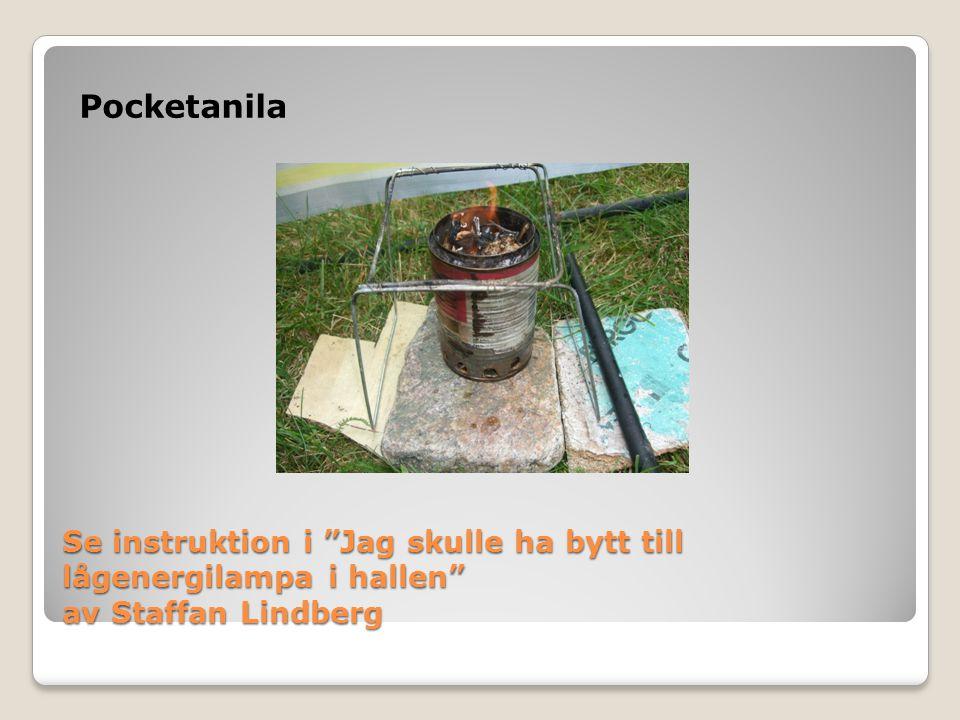 """Se instruktion i """"Jag skulle ha bytt till lågenergilampa i hallen"""" av Staffan Lindberg Pocketanila"""