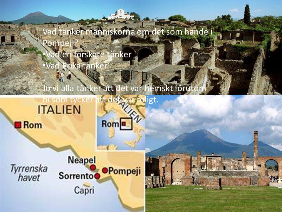 Vad tänker människorna om det som hände i Pompeji.