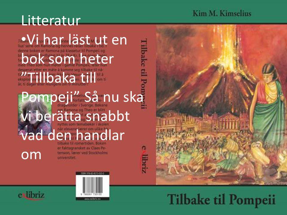 Litteratur • Vi har läst ut en bok som heter Tillbaka till Pompeji Så nu ska vi berätta snabbt vad den handlar om