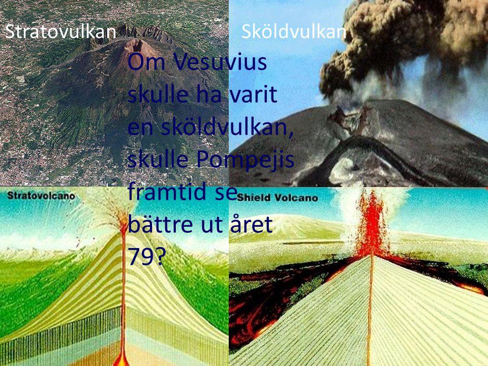 SköldvulkanStratovulkan Om Vesuvius skulle ha varit en sköldvulkan, skulle Pompejis framtid se bättre ut året 79?