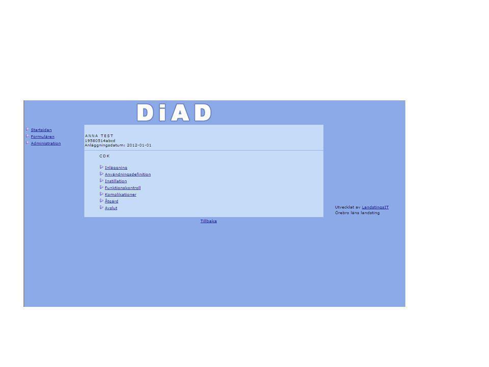 • Hjälptext • OBS.Registrera endast patienter med kronisk dialysbehandling.