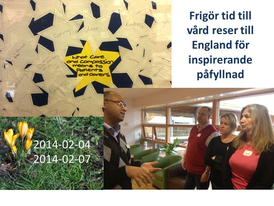 Frigör tid till vård reser till England för inspirerande påfyllnad 2014-02-04 2014-02-07