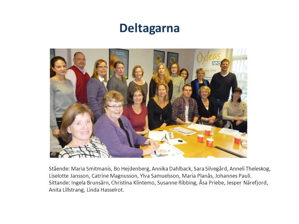 Deltagarna Stående: Maria Smitmanis, Bo Hejdenberg, Annika Dahlback, Sara Silvegård, Anneli Theleskog, Liselotte Jansson, Catrine Magnusson, Ylva Samuelsson, Maria Planås, Johannes Pauli.