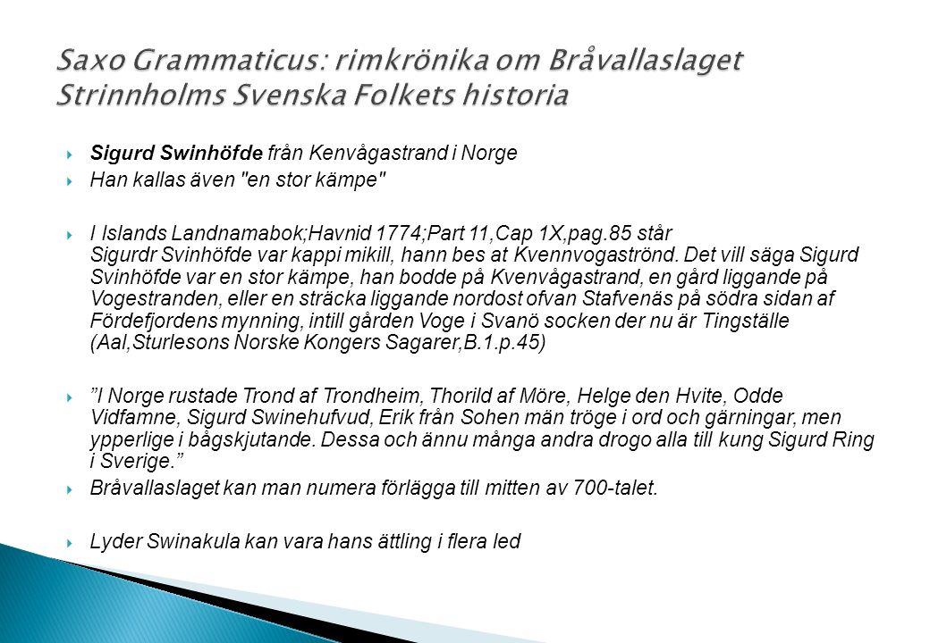  Sigurd Swinhöfde från Kenvågastrand i Norge  Han kallas även